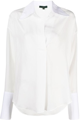 Jejia Pointed-Collar Silk Shirt