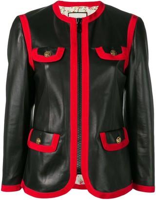 Gucci Leather Bon Ton Jacket