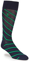 Polo Ralph Lauren Mercerized Rep Stripe Crew Dress Socks