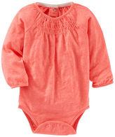 Osh Kosh Smocked Neon Bodysuit