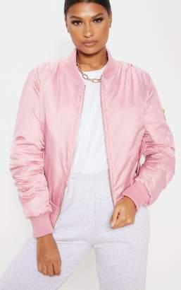 PrettyLittleThing Pink Bomber Jacket