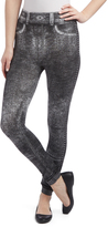Black Distressed Look Seamless Leggings