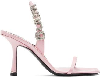 Alexander Wang Pink Satin Ivy Heeled Sandals