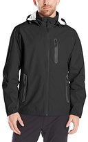 Hawke & Co Men's Seam-Sealed Water Resistant Tech Rain Jacket with Hood