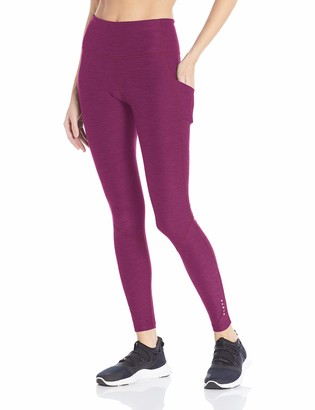 "Core 10 Amazon Brand Women's Soft & Sleek High Waist Full-Length Yoga Legging with Pockets - 28"""