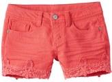 Mudd Girls 7-16 & Plus Size Color Crochet Trim Him Jean Shorts
