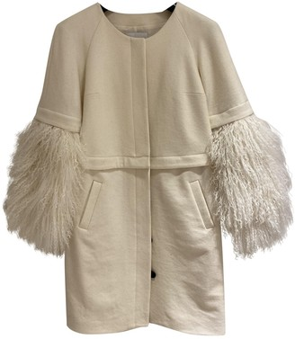 Adam Lippes White Wool Coat for Women