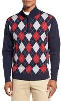 Bobby Jones Argyle Merino Wool Mock Neck Sweater