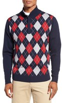 Bobby Jones Men's Argyle Merino Wool Mock Neck Sweater