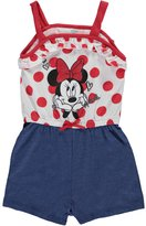 "Disney Minnie Mouse Baby Girls' ""Glitter Bow"" Romper"