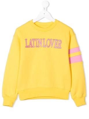 Alberta Ferretti Kids Slogan Embroidered Sweatshirt