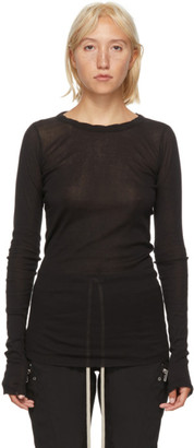 Rick Owens Black Long Sleeve T-Shirt