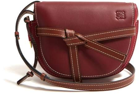 Loewe Gate Small Leather Cross Body Bag - Womens - Pink Multi