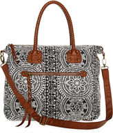 T-Shirt & Jeans Braided Handle Satchel
