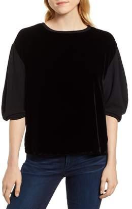 Velvet by Graham & Spencer Velvet & Fleece Half Sleeve Top