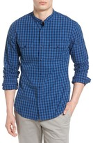 Bonobos Men's Slim Fit Band Collar Gingham Sport Shirt