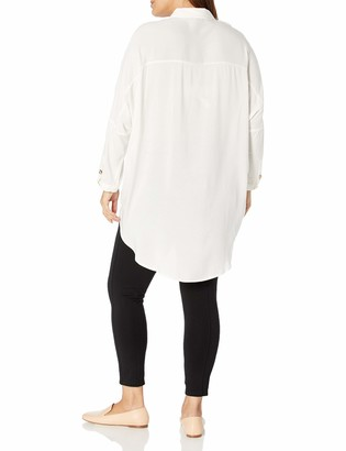 Forever 21 Women's Plus Size Longline Collared Shirt