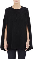 Barneys New York Women's Honeycomb-Stitched Cashmere Poncho-BLACK