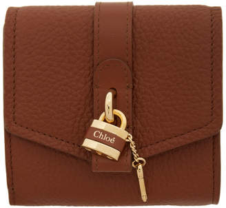 Chloé Brown Small Aby Wallet