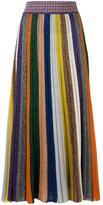 Missoni striped pleated skirt - women - Silk/Nylon/Polyester/Wool - 42