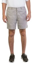Prada Men's Gabardine Regular Fit Chino Velcro Shorts Grey.