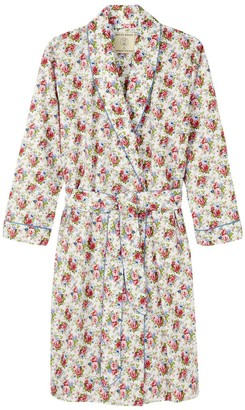 British Boxers Women's Rosy Posy Mid-Length Dressing Gown