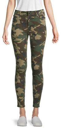 Jennie Mid-Rise Camo Curvy Super Skinny Jeans