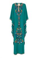 Figue Daria Embroidered Silk Caftan