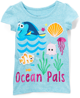 Freeze Aqua Heather 'Ocean Pals' Dory & Nemo Puff-Sleeve Tee - Toddler