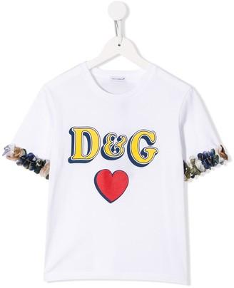 Dolce & Gabbana sleeve detail logo T-shirt
