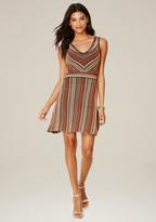Bebe Striped Flared Dress
