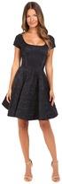 Zac Posen Party Jacquard Cap Sleeve Scoop Neck Dress Women's Dress