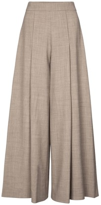 Emilia Wickstead Exclusive to Mytheresa Pacifica wool-blend crepe wide-leg pants