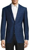 Calvin Klein Gingham Plaid Wool Jacket