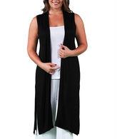 24/7 Comfort Apparel Sleeveless Long Shrug Cardigan Plus
