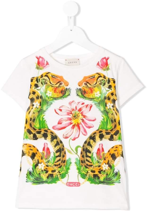 ea0ecf06 Gucci Snake T-shirt - ShopStyle