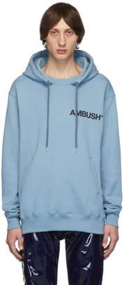 Ambush SSENSE Exclusive Blue Logo Hoodie