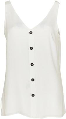 Wallis Ivory Button Through Camisole Top
