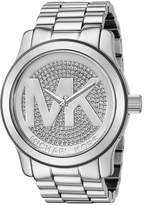 Michael Kors Runway MK5544 Stainless Steel with Silver Dial 45mm Womens Watch