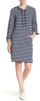 Max Studio Long Sleeve Hooded Stripe Dress