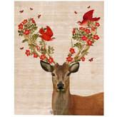 Asstd National Brand Deer and Love Birds Canvas Wall Art