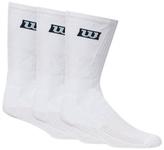 Wilson Pack Of Three White Crew Socks