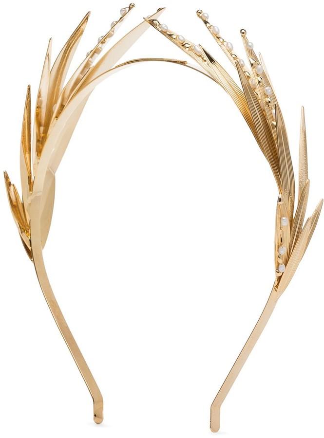 Rosantica Apache leaf pearl embellished headband
