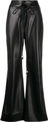 Nanushka high-waisted faux-leather trousers