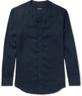 Giorgio Armani - Slim-fit Grandad-collar Linen Shirt