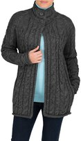 Wool Overs WoolOvers Womens Pure Wool Aran Funnel Neck Knitted Cardigan , M