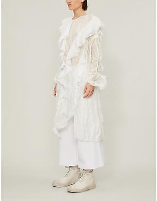 Renli Su Loose-fit floral-pattern lace midi dress