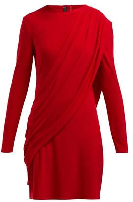 Norma Kamali Draped Jersey Dress - Womens - Red