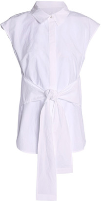 alexanderwang.t Tie-front Cotton-poplin Shirt