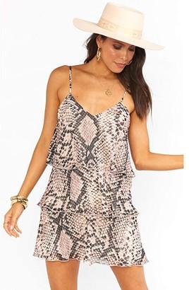 Show Me Your Mumu Suarez Ruffle Dress (Snake n Shake) Women's Dress
